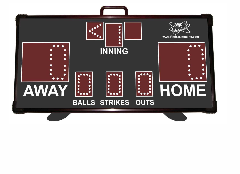 Tabletop Baseball Softball Kickball Scoreboard Funtronix