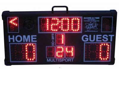 Multisport Portable Scoreboard with keypad folded