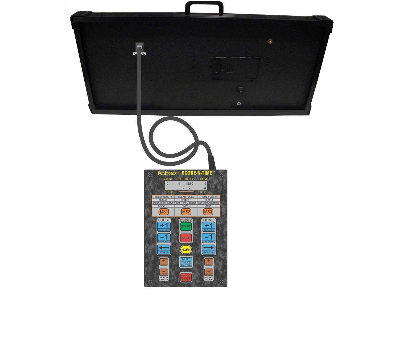 Multisport Portable Scoreboard with Corded Keypad
