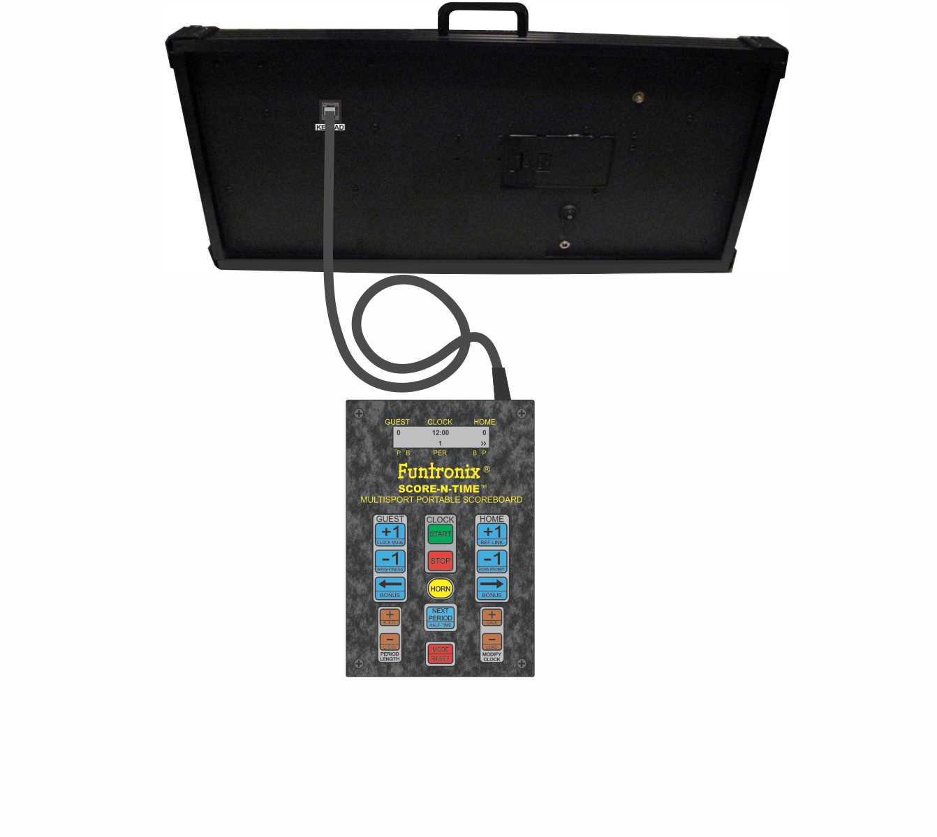 Multisport Portable Scoreboard with corded keypad
