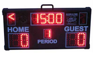 Multisport Portable Scoreboard with soccer folded