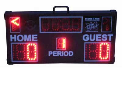 Multisport Portable Scoreboard in volleyball mode