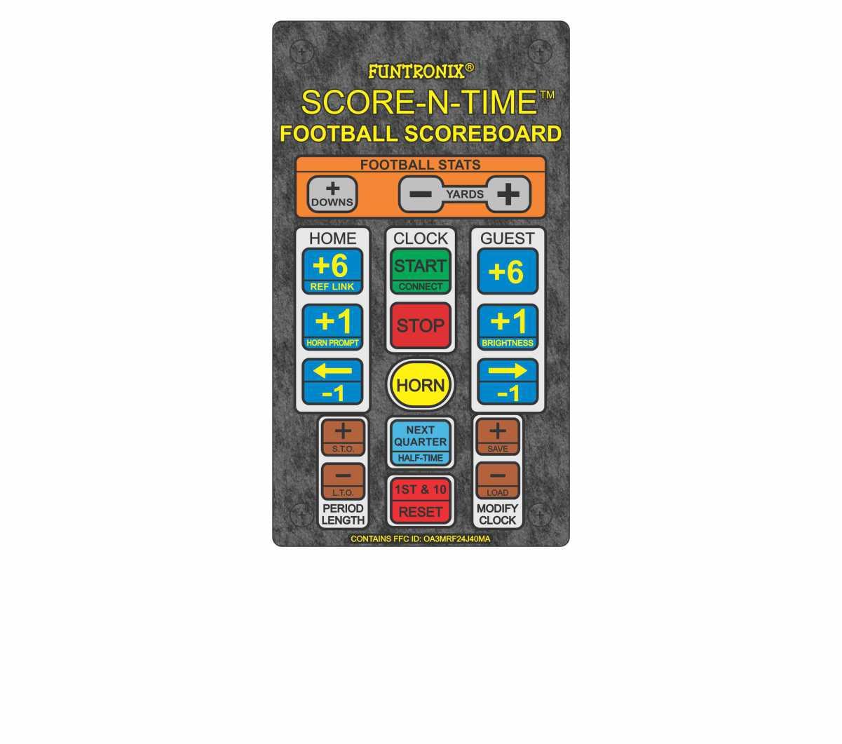 Portable Football Scoreboard Keypad