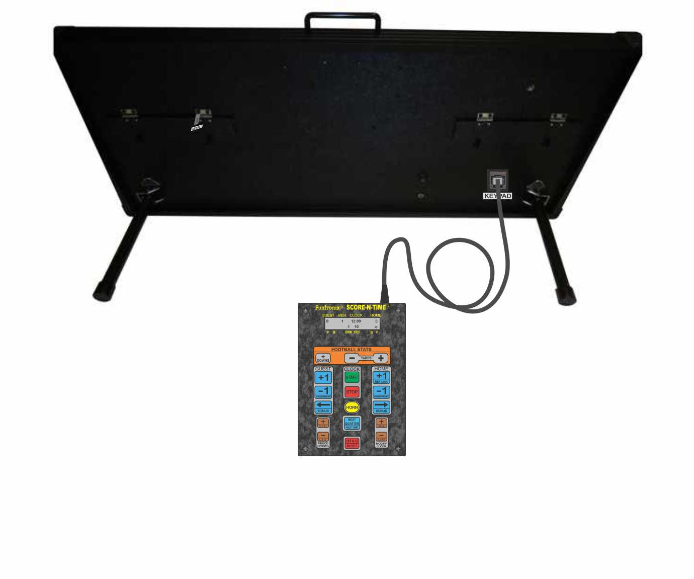 Portable Football Scoreboard Rear View