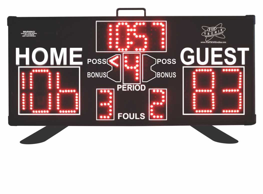 Multisport Portable Scoreboard swivel support legs