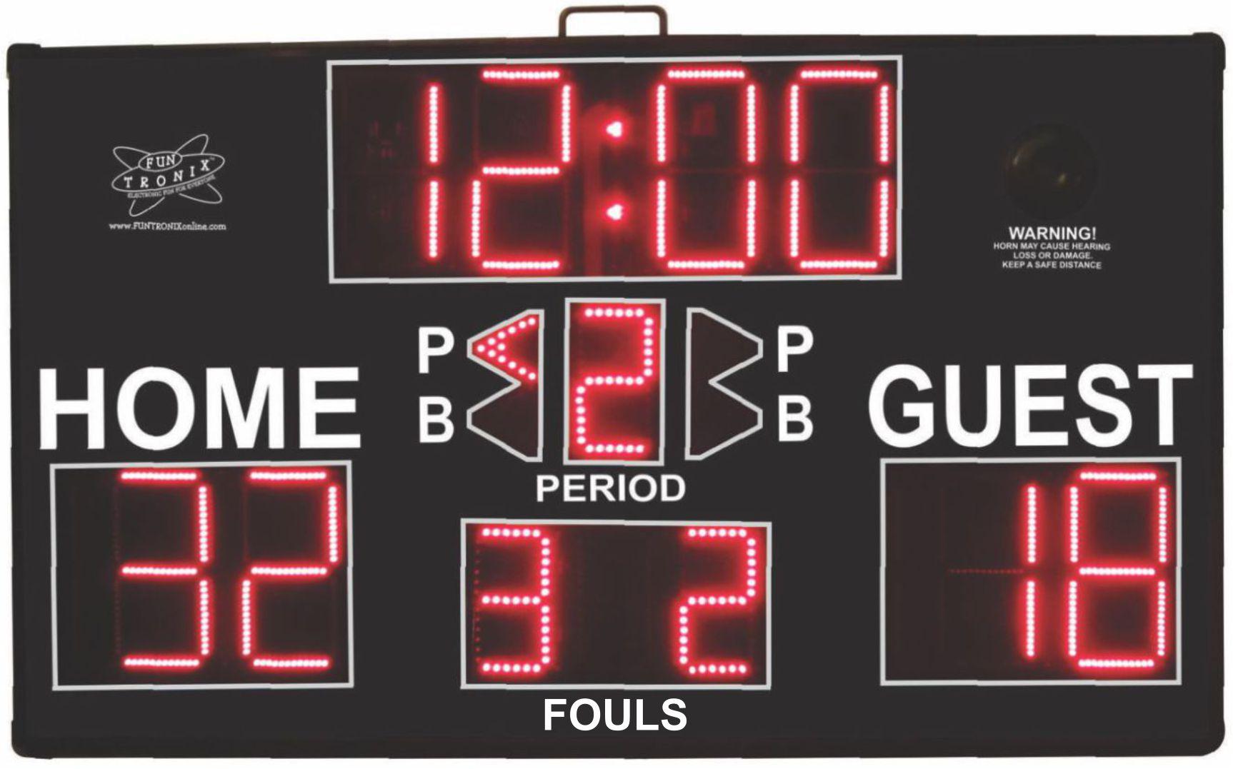 Ultra-Large Portable Multisport Scoreboard