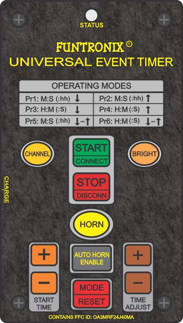Keypad for T-240 Universal Event Timer