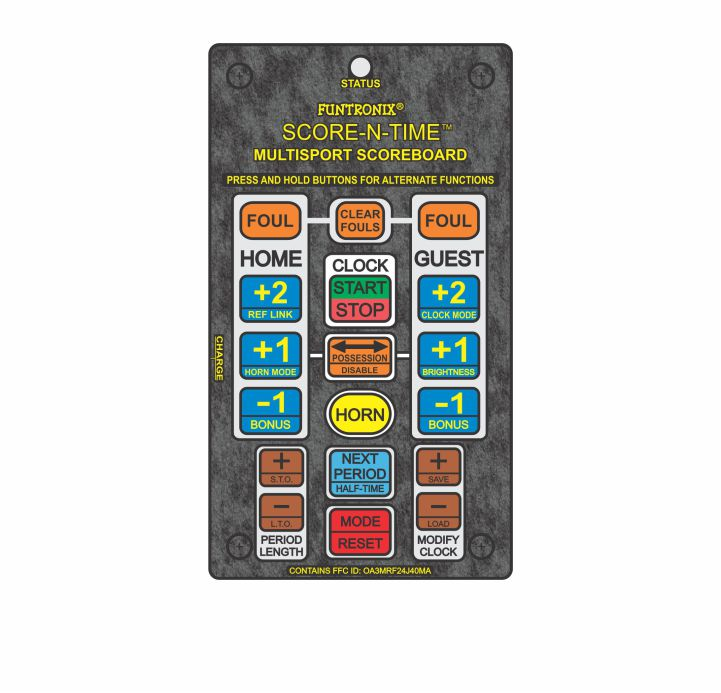 Multisport Portable Scoreboard Wireless Keypad