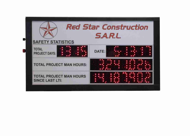 Red Star Construction Scoreboard