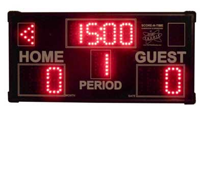 Game Room Scoreboard in clock mode