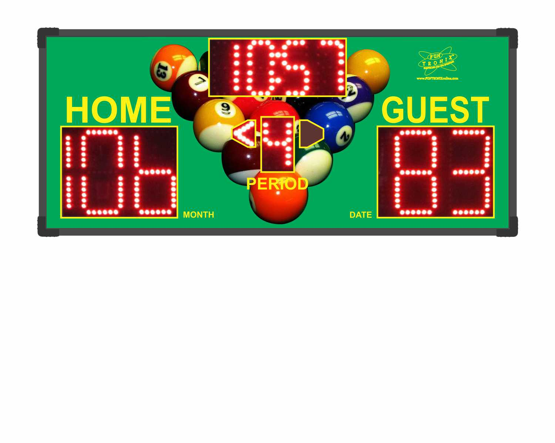 Billiard Custom Scoreboard